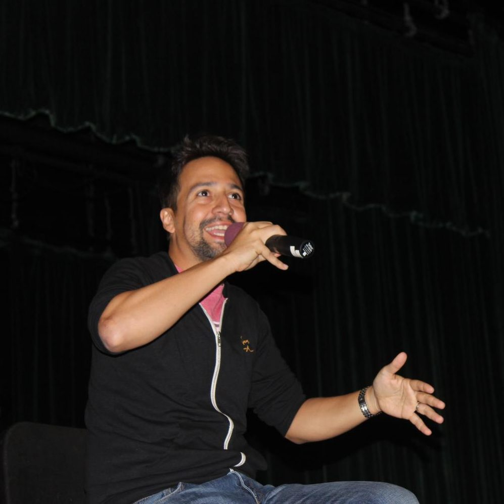 Lin-Manuel Miranda tells students that he wrote the stories that needed to be told, not the ones people wanted to hear.