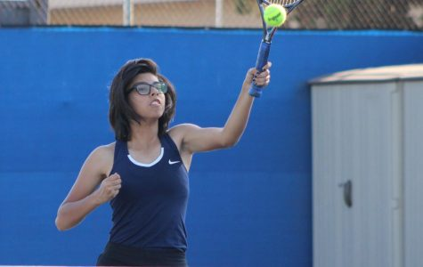 Emely Felix is 10 out of 10 in varsity tennis team