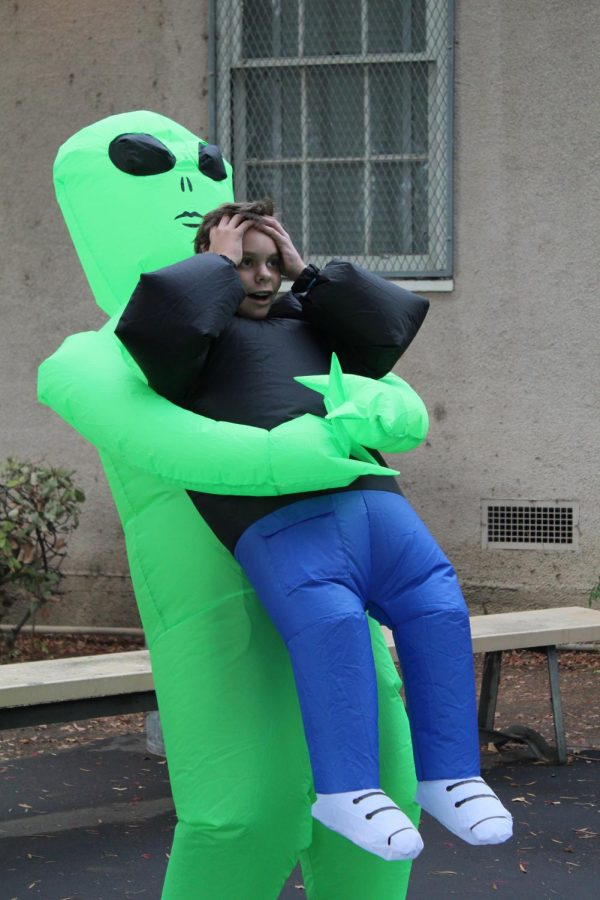 Alien abduction of freshman Conrad Nisenholz was voted as the funniest costume.