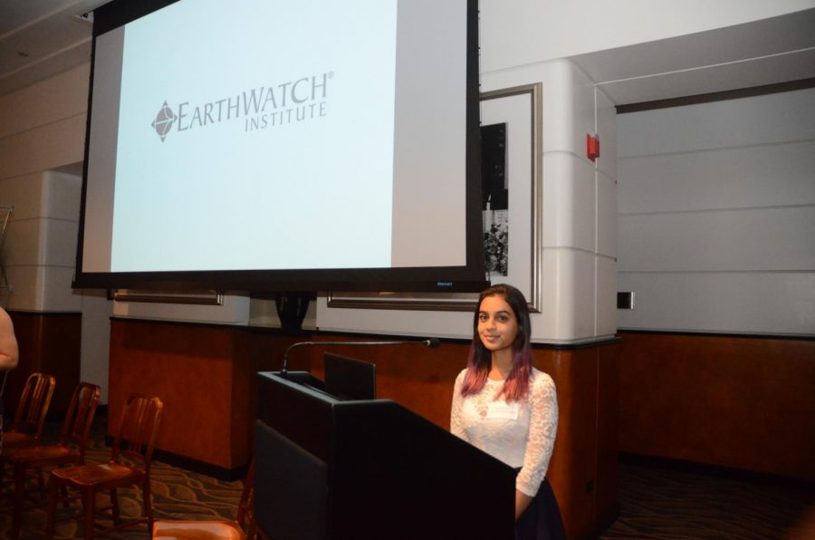 Senior Kaitlyn Arst was selected to participate as a presenter at the Earthwatch Fellowship Dinner being held at Sony Pictures Studios on  Thursday October 12th.
