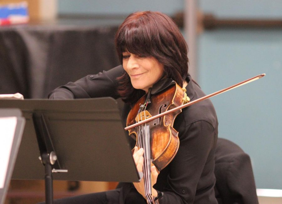 Beth Elliott plays the violin and viola for the quartet.