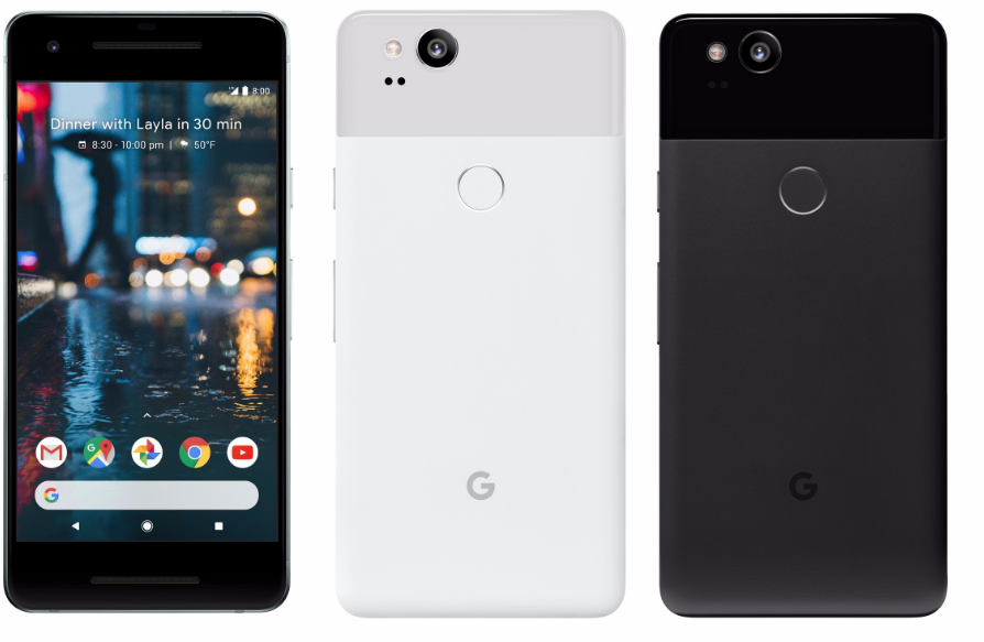 The Pixel 2 boasts the highest-rated smartphone camera, according to image quality rating website dxomark.com. It features 1080p display and lacks a headphone jack.
