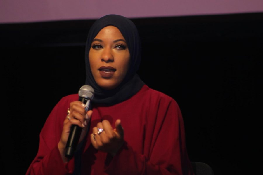 Olympian Ibtihaj Muhammad speaks to 10,000 girls of her collaboration with Nike for the first sports hijab.