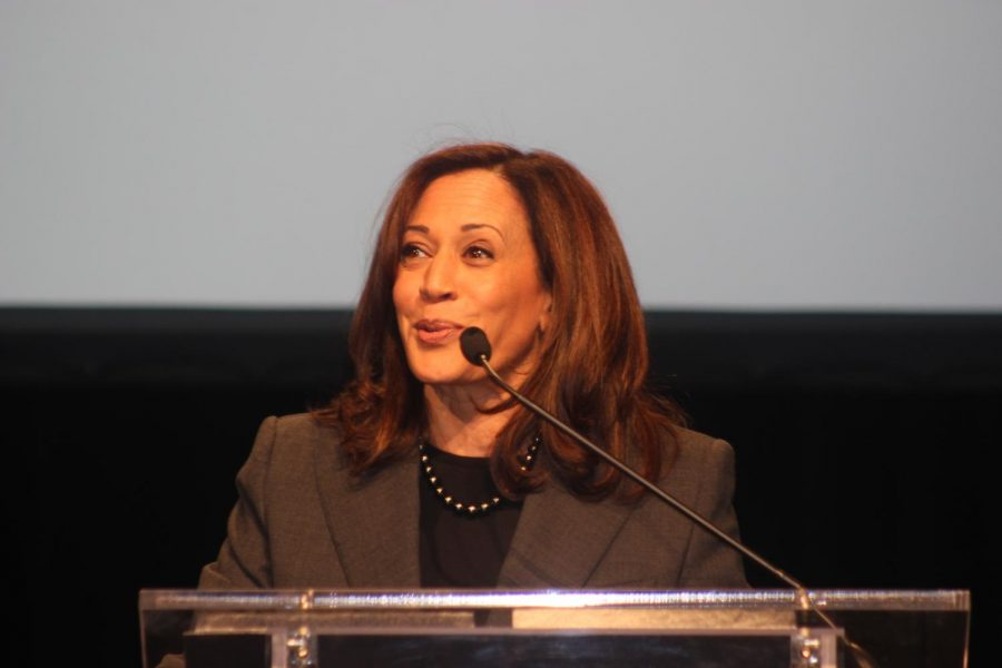 Senator Kamala Harris shares her life story, negative people she's encountered and faith in the 10,000 girls who attended the GirlsBuildLA summit.