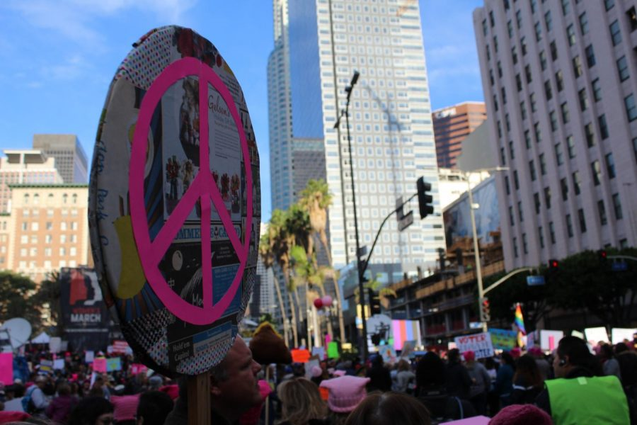 This years Women's March  featured speakers such as  Lorri Jean, CEO of the Los Angeles LGBT Center and actress Eva Longoria.