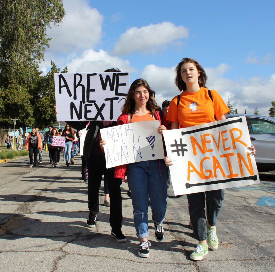 March For Our Lives will take place on March 24 as the fight for more gun control continues. On the one-month anniversary of the massacre at Margory Stoneman Douglas High School in Florida, students including juniors Alexis Lucy Ishkhanian and Bella Feinstein joined a 17-minute walkout on March 14 to push for gun control.