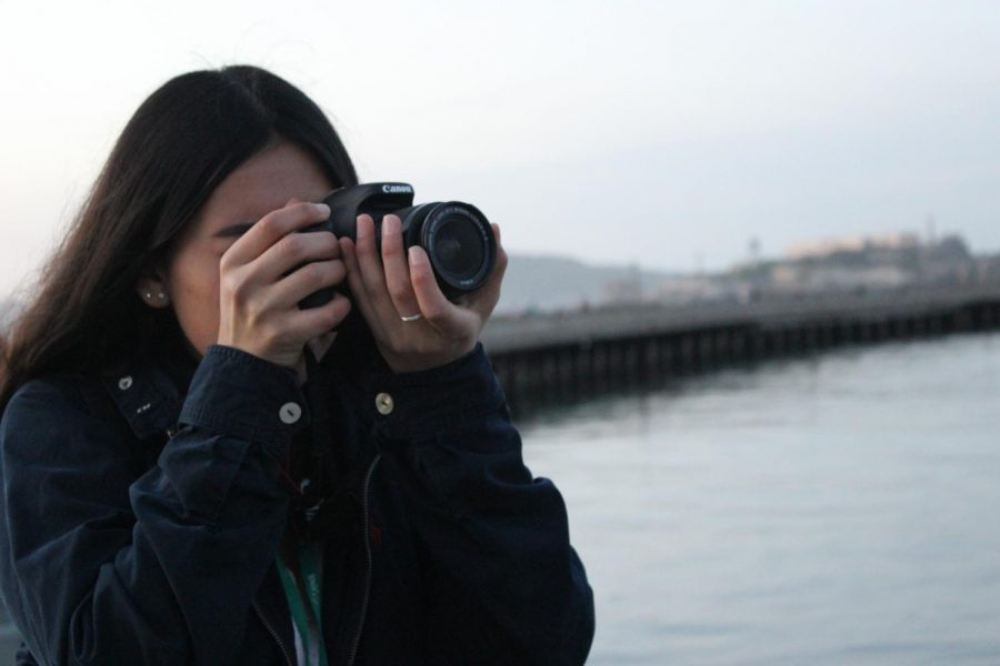 Junior Julissa Rangel takes a photo of the sunset while in San Francisco.