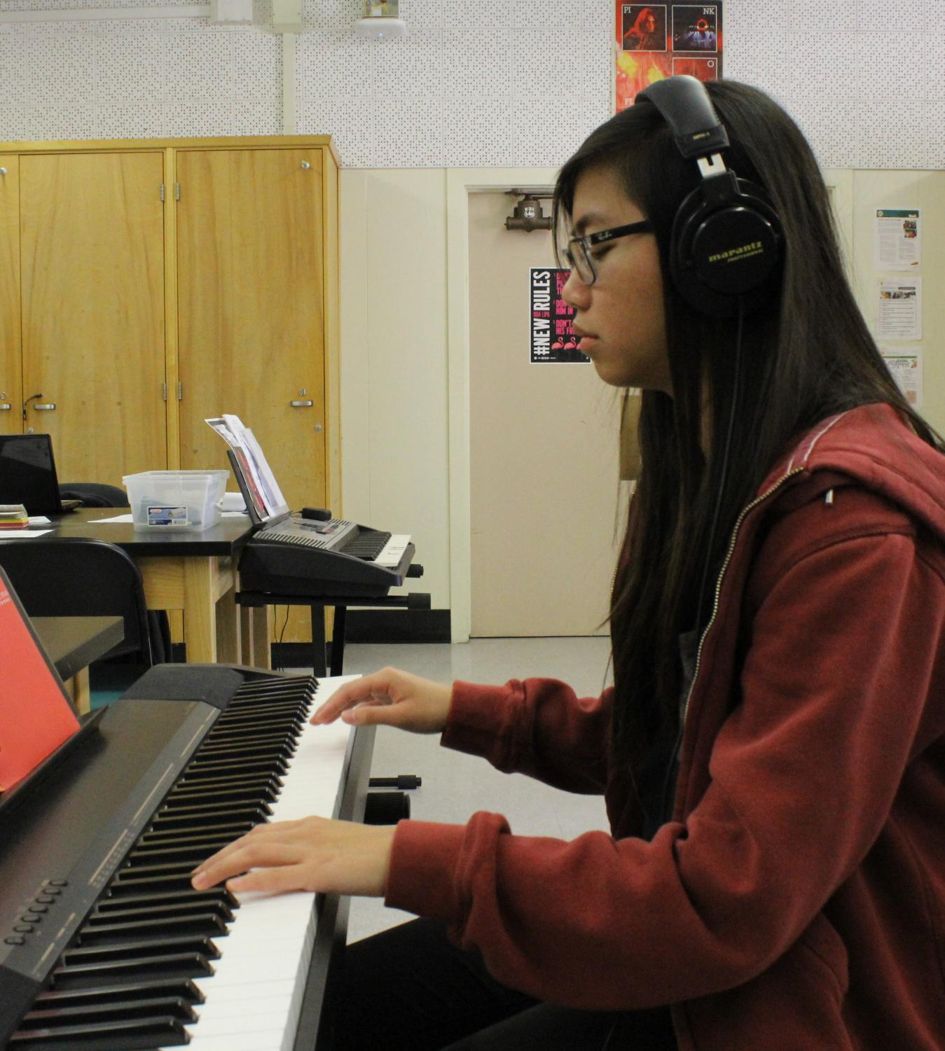 Sophomore Kim De Dios received an Honorable Mention from the 31st Annual Tenth District PTSA Music Scholarship on March 10.