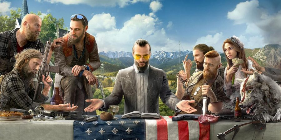 Far Cry 5 features a religion-based plot with a cult leader as the villain.