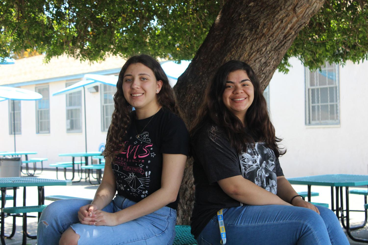 Print Editor-in-Chief Cristina Jercan and Online Editor-in-Chief Jessica Salguero conclude their final year on staff after a previous two years.