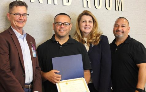 Amezcua named district's Employee of the Year