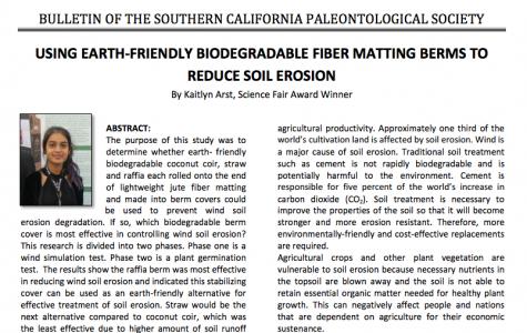 Senior Arst publishes in scientific magazine