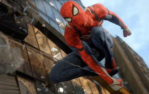 Spider-Man performs some of his web swinging acrobatics in his new adventure on the Playstation 4.