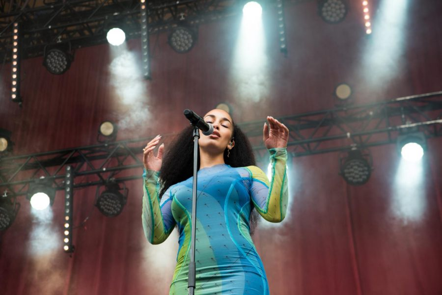 Jorja Smith, 21, performs at Øyafestivalen in Norway on Aug. 11.