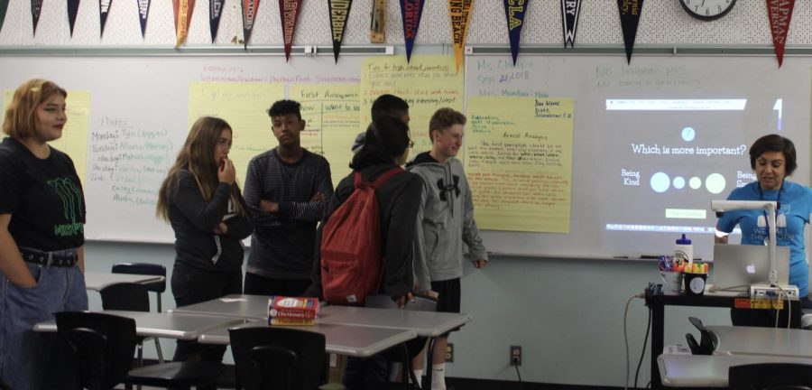 The first restorative justice  meeting of the year was held on Friday Sep. 21. Students from the Salazar house played a form of would you rather with their house adviser Adriana Chavira.