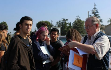 Students and staff prepare for fire drill