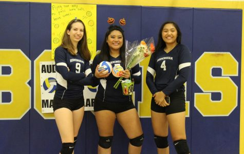 Seniors set a hole in the Lady Patriots varsity team