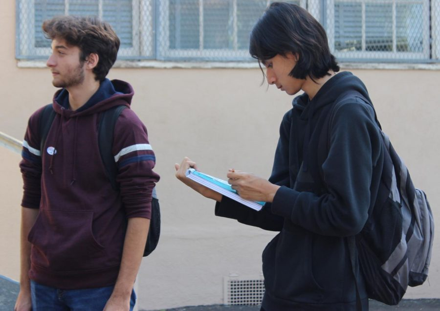 Students cast ballots as part of California Student Mock Election program