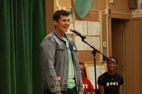 Rodrigo José Sigala performed his poem and response during the Get Lit performance on Nov. 15.