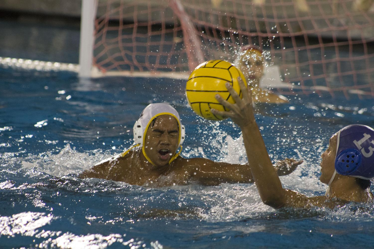 Birmingham+Community+Charter+High+School%27s+varsity+boys+water+polo+player+CJ+Gorospe+gets+splashed+on+during+the+CIF+Los+Angeles+City+Section+Championship+match+against+Palisade+Charter+High+School+on+Nov.+8.