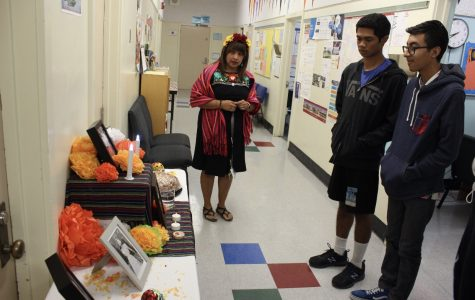Teachers and students honor the dead in Day of the Dead festival