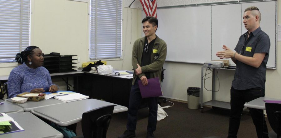 Pride Club had two special speakers, Ani Cooney and Mike Freeman, who talked about many volunteer opportunities and events outside of school on Nov. 26.