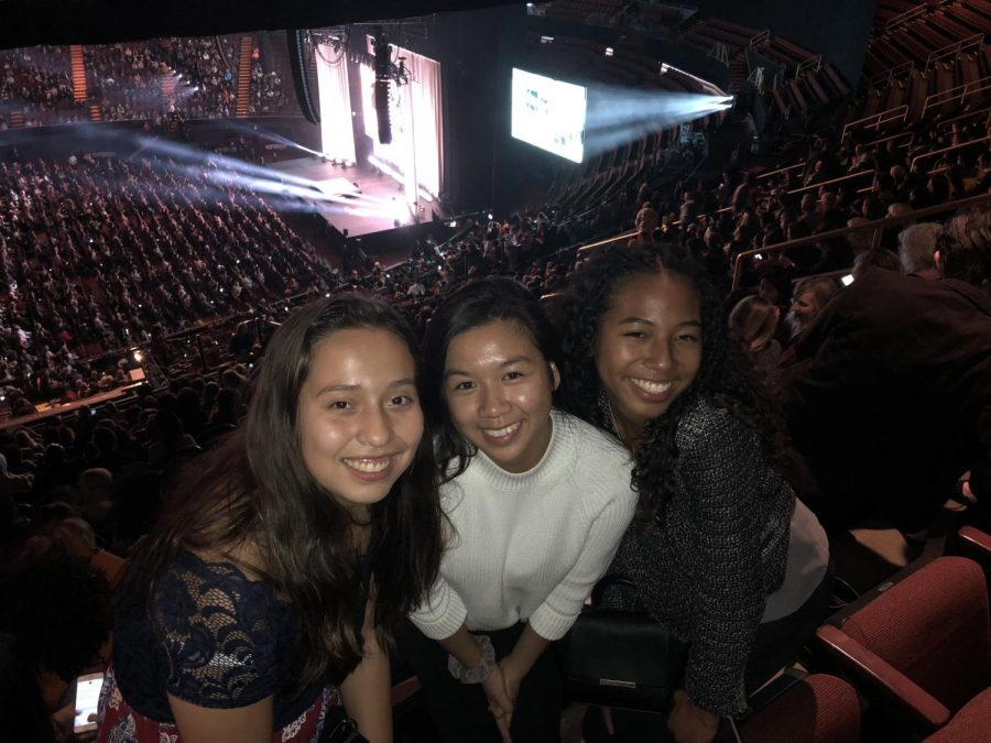 Staff writers Itzel Luna, Alliana Samonte and Social Media Editor Cassia Ramelb attended  Michelle Obama's