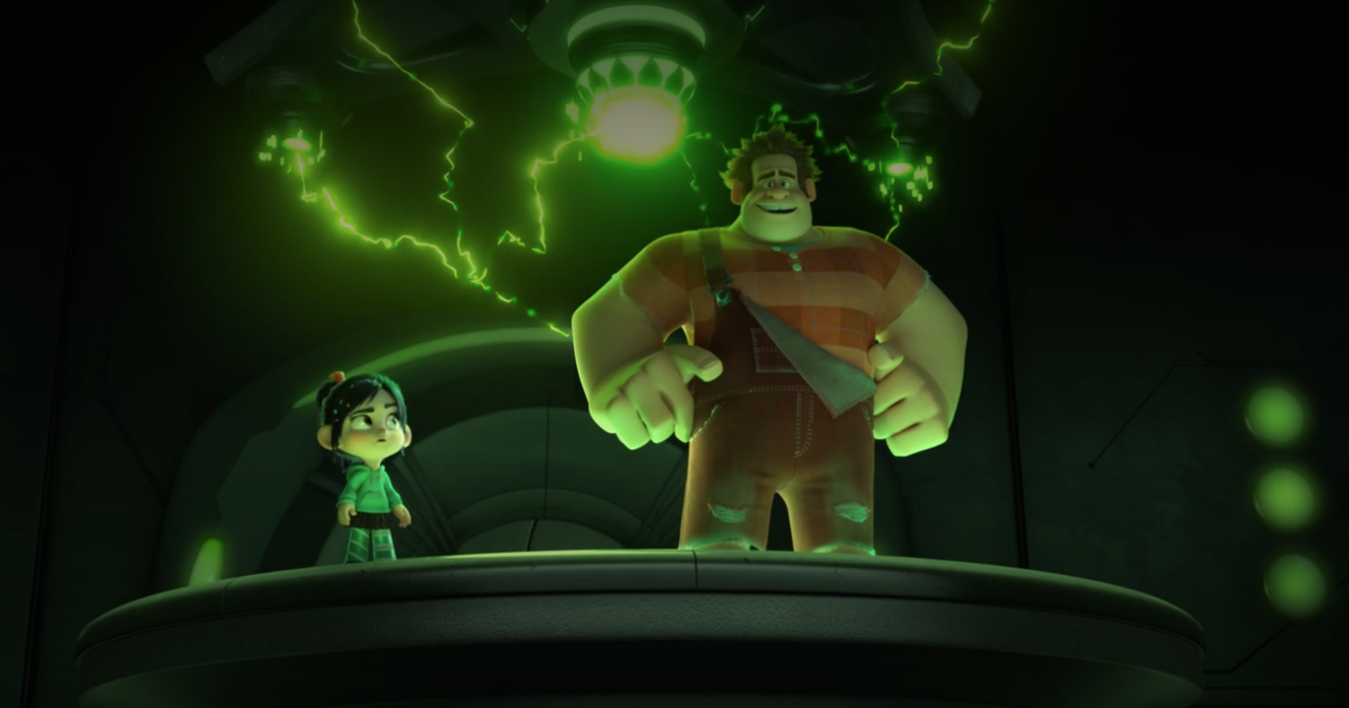 Comedian Sarah Silverman and John C. Reilly reprise their roles as Ralph and Vanellope von Schweetz in