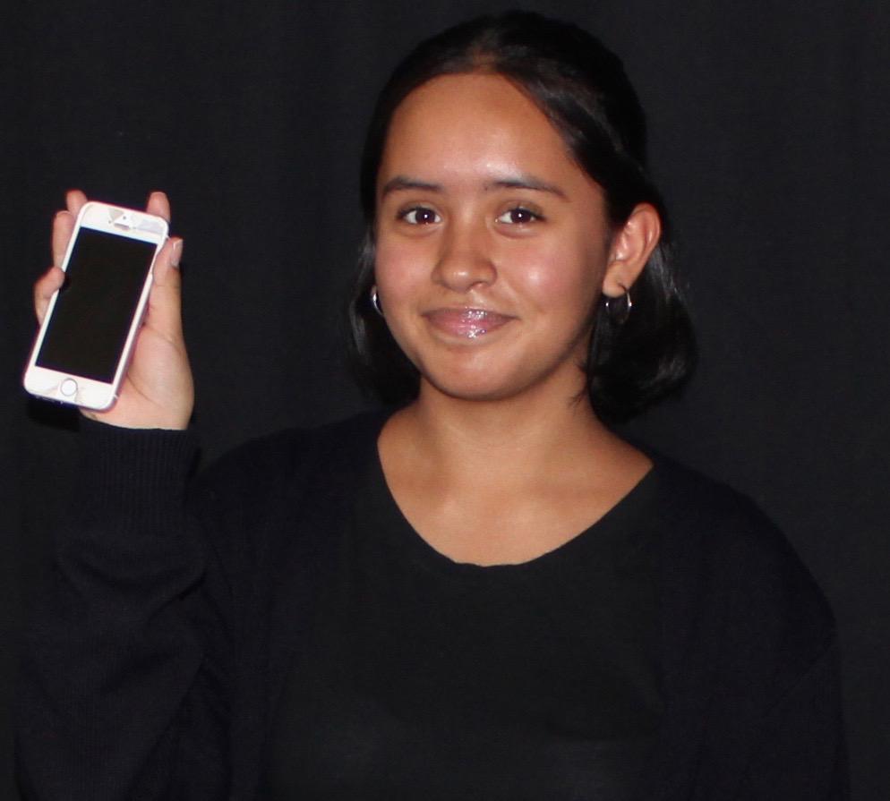 Freshman Daniela Rangel was unable to make it through a day unplugged.