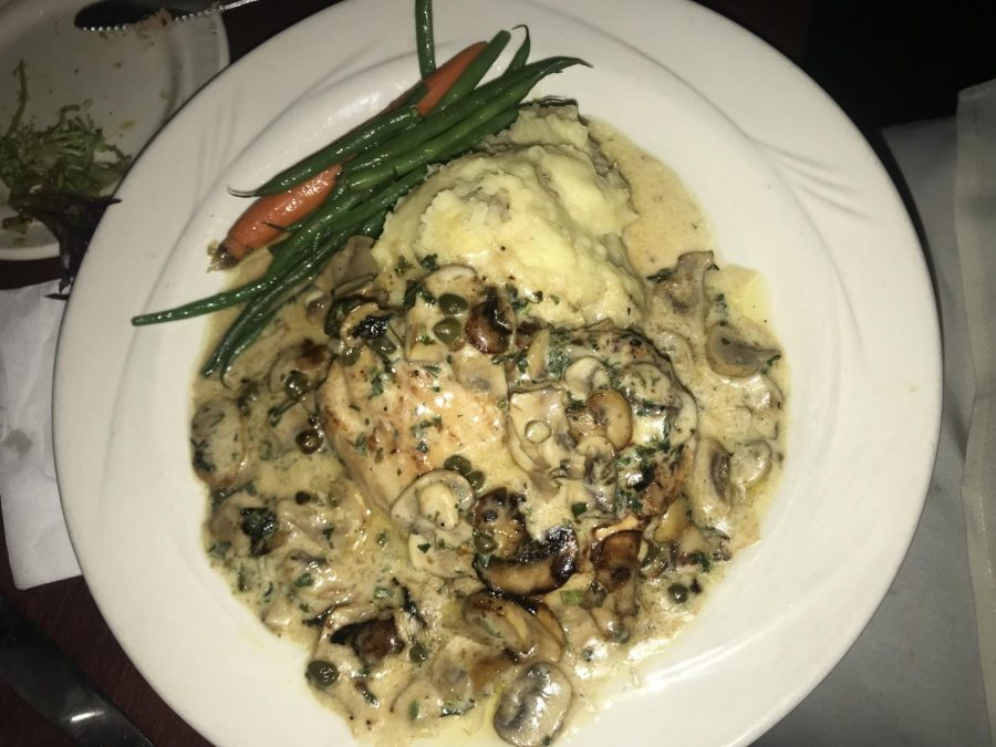 This+meal+is+one+of+the+many+meals+offered+on+the+early+pilots+dinner+menu.+Chicken+scallopini+is+served+fresh+with+mixed+greens.%0A