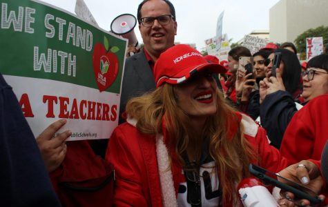 Teachers rally at Grand Park on Jan. 18 as strike continues