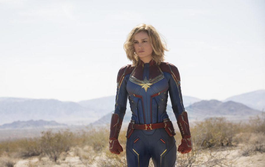 """Brie Larson from the 2015 drama film """"Room"""" depicts Marvel's first female-lead, Captain Marvel."""