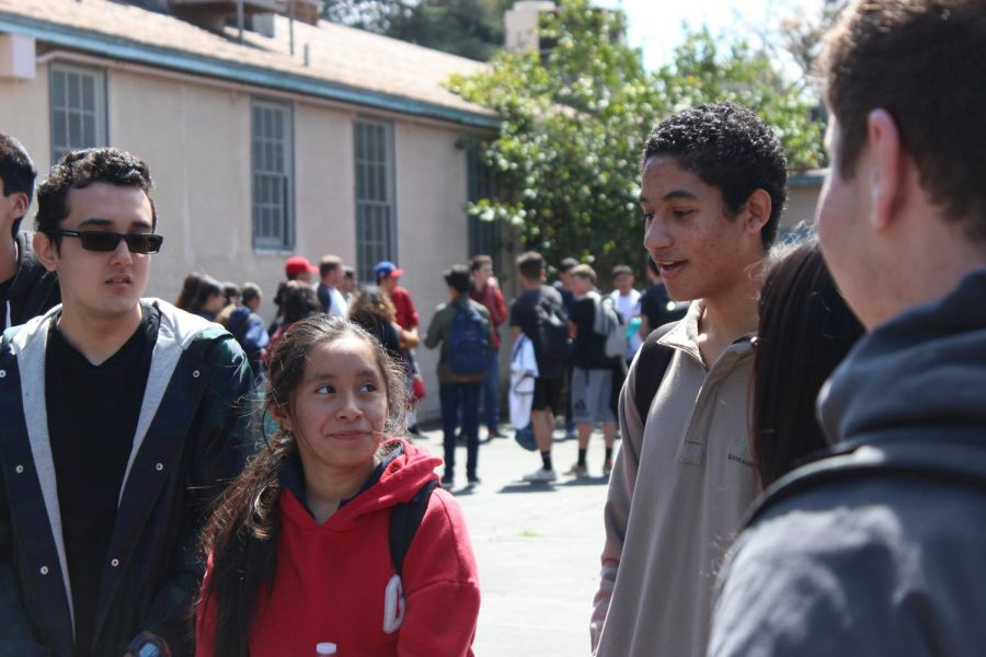 Senior Andres Perkins from the Salazar house answers a question that was asked by his house adviser on Friday.
