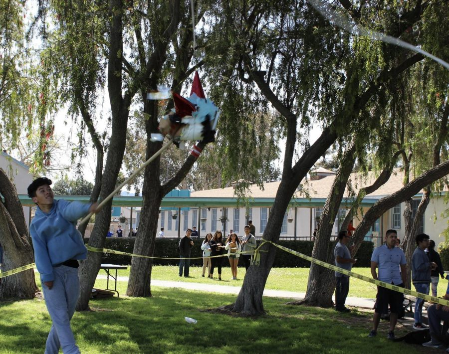 Students were able to participate and hit one of the two piñatas during Fiesta Friday on March 29.