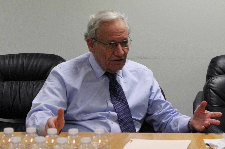 Robert Woodward spoke at UCLA's annual Daniel Pearl Memorial Lecture on April 4.