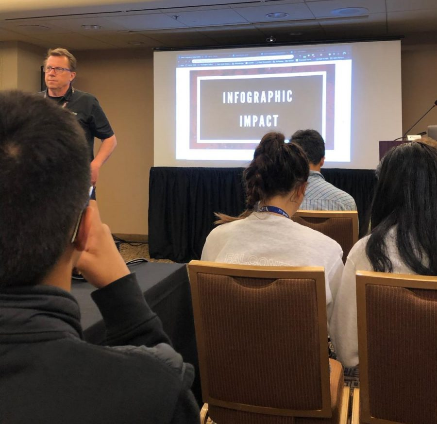 Staff writer Casey Wanatick attended a session focused on creating infographics.