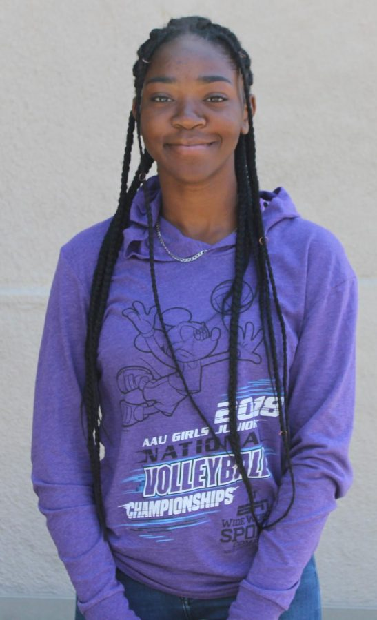 Senior Judith Nterre plans to continue with track after she graduates from high school.