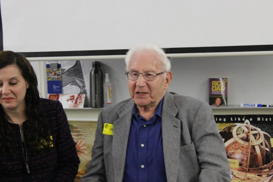 Holocaust+survivor+Avraham+Perlmutter+describes+the+maltreatment+he+and+his+siblings+endured+in+Nazi+Austria+to+students+in+history+teacher+Francisco+Ortega%27s+sixth-period+class.