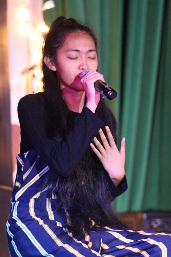 Junior Andi Mendoza sings