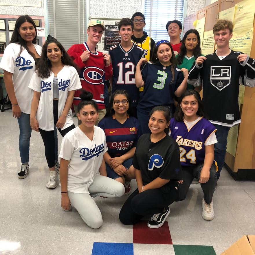 The Pearl Post staff participated in Jersey day on Sept. 27.