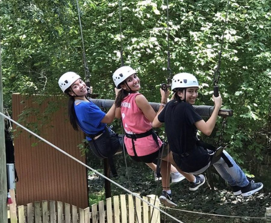 Attendees of the law and advocacy program were treated to a ropes course on the second day of the program.