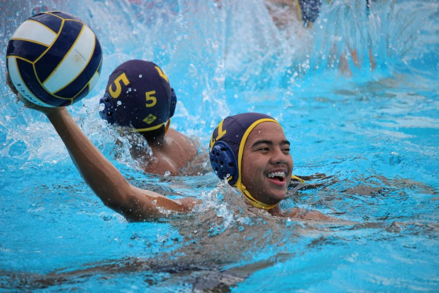 Junior Cj Gorospe practices before the game against Bishop Alemany High School on Sept. 10.