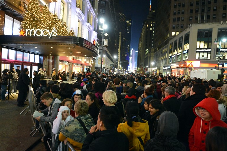 Large crowds of people eager for sales pose a danger to other shoppers and store employees