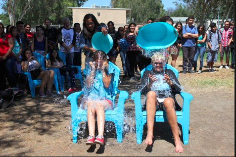 The ALS Ice Bucket challenge came to DPMHS and several students and staff participated in this awareness campaign.