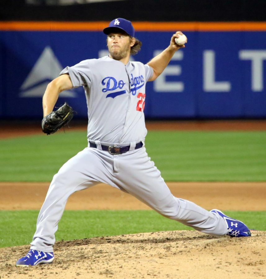 Dodgers pitcher Clayton Kershaw pitches during the 2017 World Series. Kershaw won one game in the World Series.