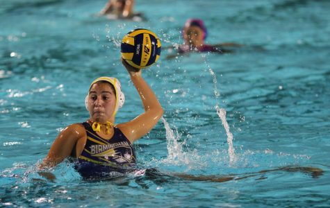 Varsity Team Captain Amelia Sanchez prepares to aim the ball into the net during the City Championship game against Palisades Charter High School on Feb. 20. The game was held at Los Angeles Valley College.