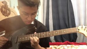 Junior Chris Lorio has been practicing playing the guitar since quarantine started.