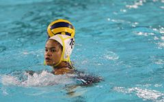 Senior Julissa Jaco played on the girls water polo team for three years. She won a CIF championship during her last year on the team.