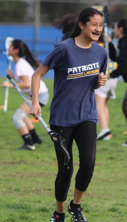 Senior Maria Ruiz played Lacrosse for two years. Even though she stopped playing after her Junior year, she continued to practice her skills.