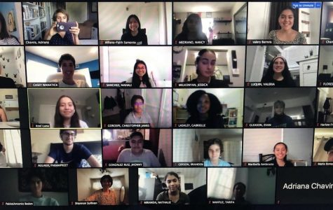 The Pearl Post staff meets through zoom during period 5 on Aug. 25.